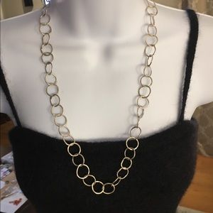 Artisan made solid silver heavy necklace